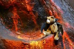 Utsmyckad björndocka Teddy Island Pattaya Fotografering för Bildbyråer