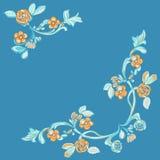 Utsmyckad blom- virvlande runt dekorativ modell Arkivbild