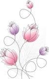 Utsmyckad blommadesign Royaltyfri Foto