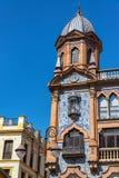 Utsmyckad byggnad i Seville, Spanien arkivbilder