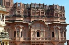 Utsmyckad byggnad, Jodhpur, Rajasthan, Indien Royaltyfri Bild