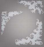 Utsmyckad dekorerad barock roccoco för hörnbeståndsdel Royaltyfri Bild