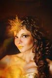 utsmyckad flicka för klänning Royaltyfria Bilder