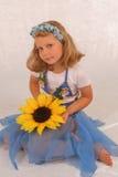 utsmyckad flicka t för klänning Royaltyfria Foton