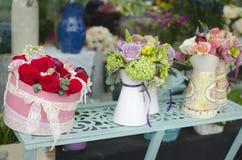 Utsmyckad flowershop Arkivbilder