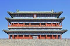 Utsmyckad forntida byggnad, Tiananmen fyrkant beijing porslin arkivbilder