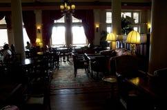 Utsmyckad gammal restaurang Arkivfoto