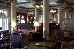 Utsmyckad gammal restaurang Arkivfoton