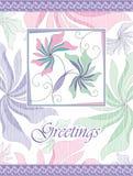 Utsmyckad hälsningskortdesign Royaltyfri Foto