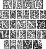 utsmyckad initial för alfabet vektor illustrationer