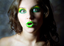 utsmyckad makeup Fotografering för Bildbyråer