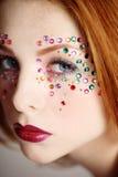 utsmyckad makeup Royaltyfri Bild
