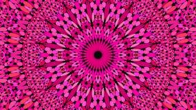 Utsmyckad mandalatapet för rosa abstrakt grus - geometriskt vektordiagram royaltyfri illustrationer