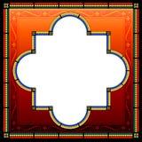 Utsmyckad medeltida stilram med dekorativa gränser Royaltyfri Bild