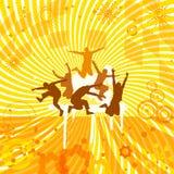 Utsmyckad orange bakgrund Royaltyfri Foto