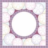 Utsmyckad oval ram Arkivbilder