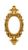 utsmyckad oval tappning för ramguld Royaltyfri Bild