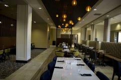 Utsmyckad restaurang för hotellstång Arkivbild
