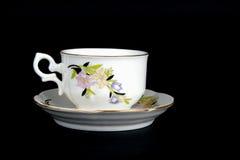 utsmyckad saucer för kopp royaltyfri bild