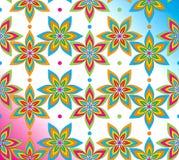 Utsmyckad seamless blommabakgrund Arkivbilder