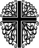 utsmyckad silhouette för 2 kors Fotografering för Bildbyråer