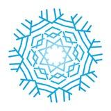 Utsmyckad snöflinga arkivbild