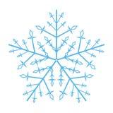 Utsmyckad snöflinga royaltyfria bilder