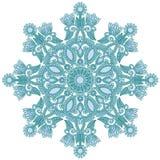 utsmyckad snowflake royaltyfri illustrationer