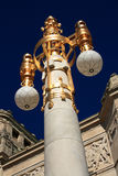 utsmyckad stolpe sweden för lampa Arkivfoton