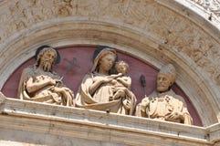 Utsmyckad tempelportal, italiensk konst Arkivbilder