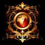 utsmyckad värld Royaltyfria Bilder