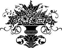 utsmyckad vase Arkivfoto