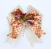utsmyckad white för bow Arkivbild