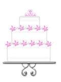 utsmyckad white för cake royaltyfri illustrationer