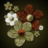 utsmyckade blommor royaltyfri foto