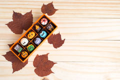 Utsmyckade choklader för allhelgonaafton Royaltyfria Bilder