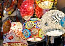 Utsmyckade glass lampor Royaltyfri Bild