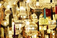 Utsmyckade glass lampor Royaltyfri Foto