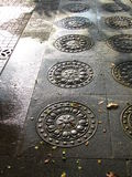 Utsmyckade golvtegelplattor Fotografering för Bildbyråer