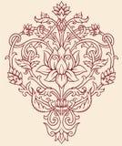 Utsmyckade Lotus Flower Arkivbilder