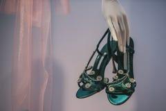 utsmyckade skor Fotografering för Bildbyråer