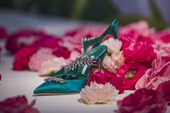 utsmyckade skor Royaltyfri Fotografi