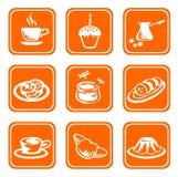 utsmyckade symboler för mat royaltyfri illustrationer
