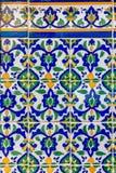 Utsmyckat arbete för mosaiktegelplatta Royaltyfria Bilder
