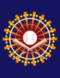 utsmyckat baseballdiagram royaltyfri illustrationer