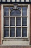 Utsmyckat blyat fönster royaltyfria bilder