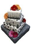 utsmyckat bröllop för cake arkivbilder