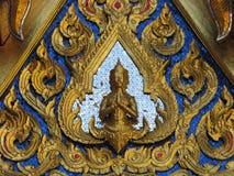 Utsmyckat Buddhadiagram på templet Chiang Mai Thailand arkivbilder