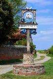 Utsmyckat bytecken, Blakeney, Norfolk, England arkivfoton