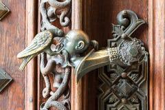 Utsmyckat dörrhandtag royaltyfri bild